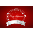Christmas background with shiny ribbon vector