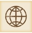 Grungy globe icon vector