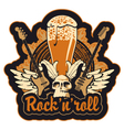 Rock n toll and beer vector