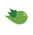 Green bird color art vector