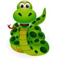 Cute snake cartoon vector