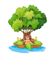 A mermaid resting in the island vector