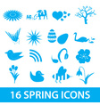 Spring icons set eps10 vector