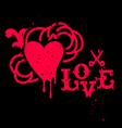 Grunge heart sign vector