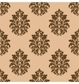 Retro dark beige or brown seamless pattern vector