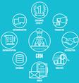 Concept of customer relationship management vector