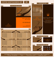 Coffee shop business template vector