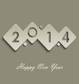 Abstract cube new years wishes vector