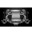Lions with scroll vector