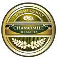 Chamomile herbal tea label vector