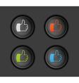 Thumb button vector