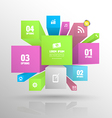 Boxes banner abstract vector