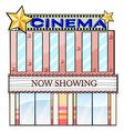 A cinema theater building vector