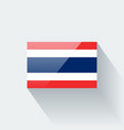 Flag of thailand vector
