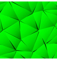 Abstract green paper triangle background vector