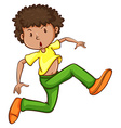 A simple drawing of a young man dancing vector