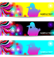 Advertising abstract music banner vector