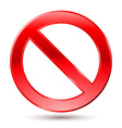 Empty ban sign vector