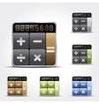 Calculator icons vector