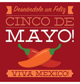 Retro style cinco de mayo card in format vector