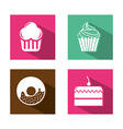 Bakery icons vector