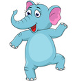 Baby elephant dancing vector