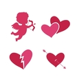 Set of cupid icons vector