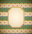 Retro frame with stars vector