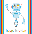 Birthday robot vector