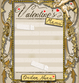 Vintage graphic page for valentine �s menu vector