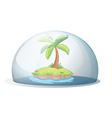 An island with a coconut tree vector