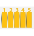 One two three four five - progress icons for five vector