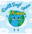 Earth day 22 april greeting card vector