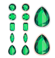 Set of five forms of emerald cut and two kinds of vector
