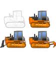 Catterpillar tractor vector