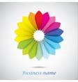 Modern colorful geometrical circles vector