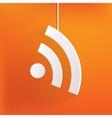 Rss icon news symbol vector