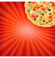 Pizza poster vector