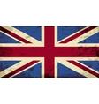 Great britain flag grunge background vector