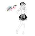 Young beautiful girl fashion vector