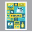Finance - mosaic poster with icons in flat design vector