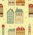 Cute city pattern vector