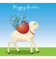 Easter lamb vector