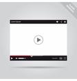 Modern flat video player interface vector