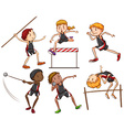 A sketch of the different outdoor activities vector