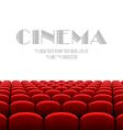 Cinema auditorium with white screen vector