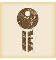 Grungy key icon vector