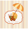 Baby shower card with cute stroller vector