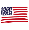 Flag of usa united states of america handmade vector