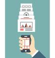 Responsive web design of mobile application vector